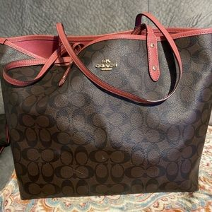 Coach Reversible Tote with Wristlet